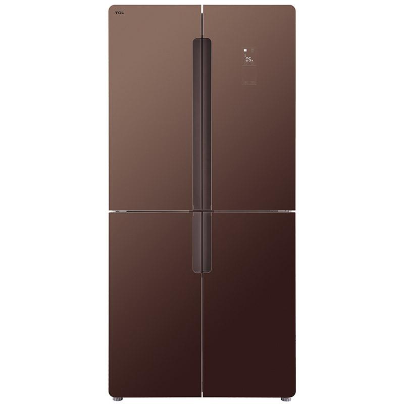 TCL 490L十字对开门变频冰箱