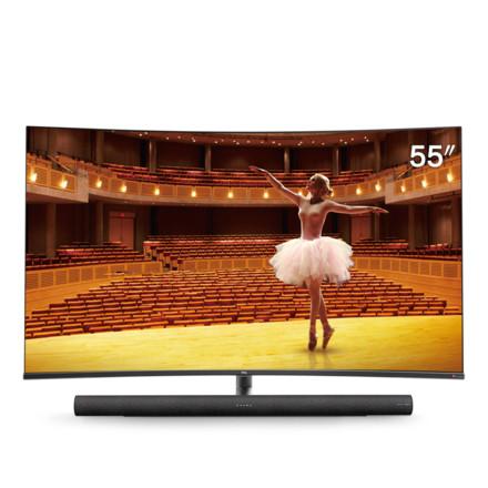 55C7 55英寸<span style='color:red'>4K</span>智能曲面电视