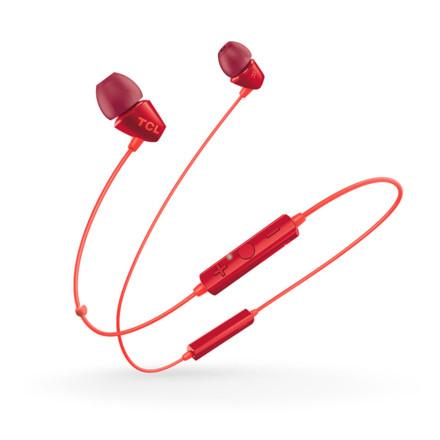 TCL SOCL100BT蓝牙耳机 樱桃红