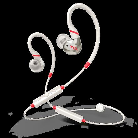 TCL ACTV100BT耳掛式運動耳機 亮紅白