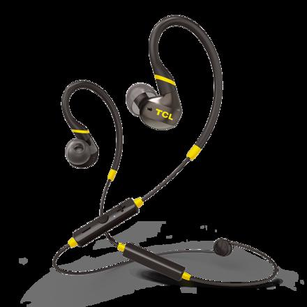 TCL ACTV100BT耳挂式运动耳机 亮黄黑