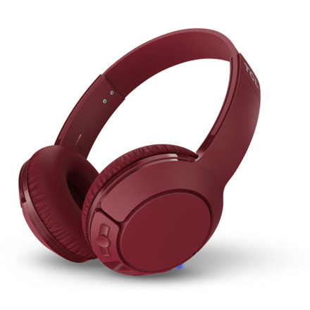 TCL MTRO200BT头戴式蓝牙耳机 暗绛红